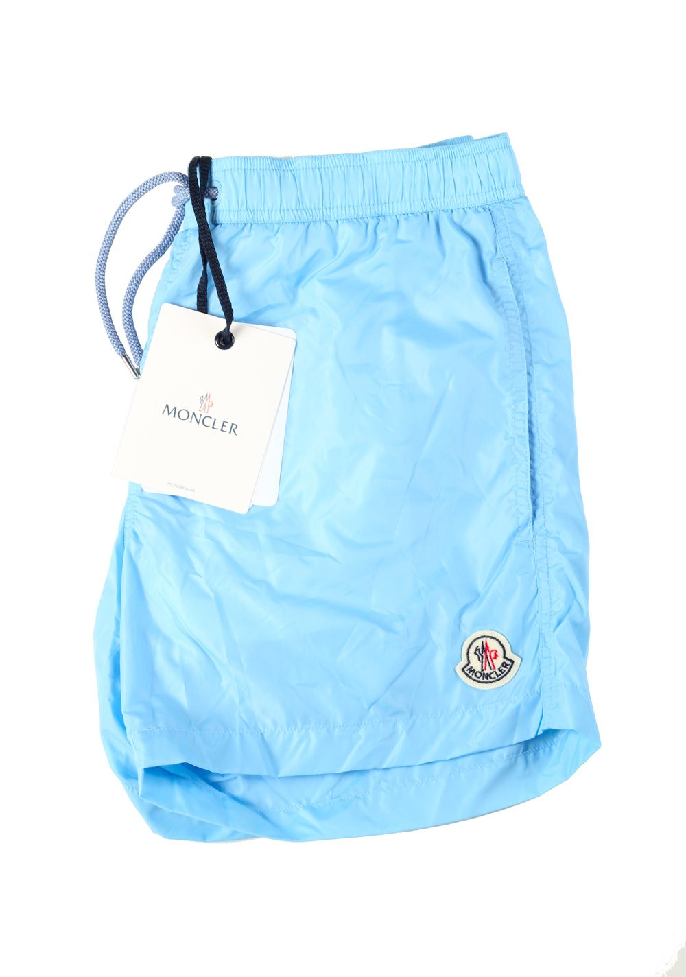 moncler swim shorts light blue