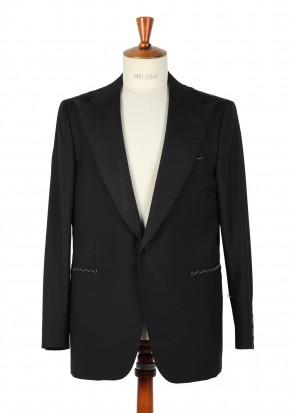 Borrelli Tuxedo Smoking Suit Size 54 / 44R U.S. Wool Mohair - thumbnail | Costume Limité