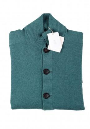 Cucinelli Cardigan Size 48 / 38R U.S. Green 100% Cashmere - thumbnail | Costume Limité