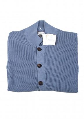 Cucinelli Cardigan Size 58 / 48R U.S. Light Blue Cotton - thumbnail | Costume Limité