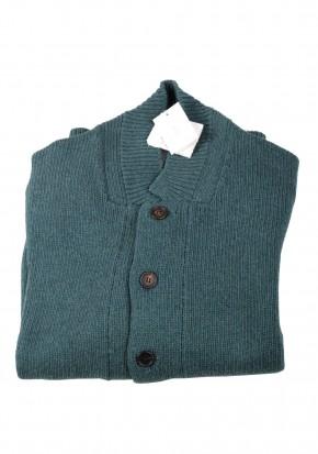 Cucinelli Cardigan Size 58 / 48R U.S. Green Cotton - thumbnail | Costume Limité