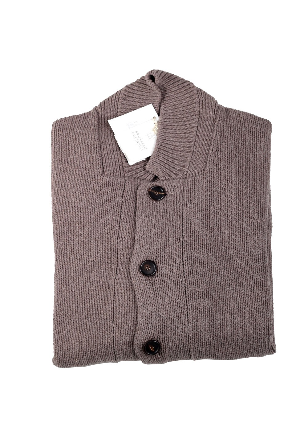 Cucinelli Cardigan Size 58 / 48R U.S. Brown Cotton | Costume Limité